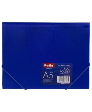 Plastikinis aplankas Patio su gumele A5, mėlynas
