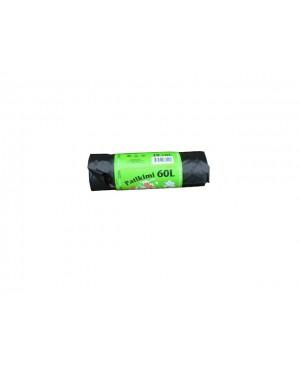 Maišai šiukšlėms LDPE Patikimi 60 l , 10vnt rulonėlyje