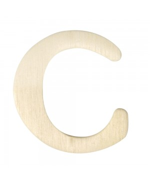 Medinė raidė 4cm, C