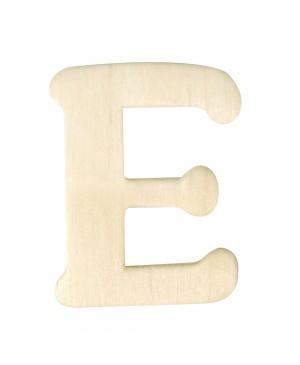 Medinė raidė 4cm, E