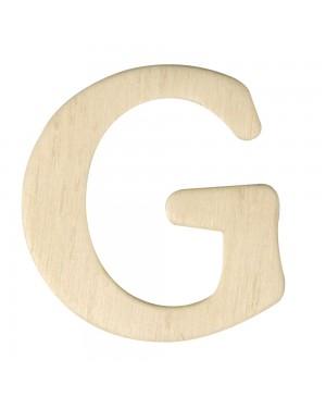Medinė raidė 4cm, G