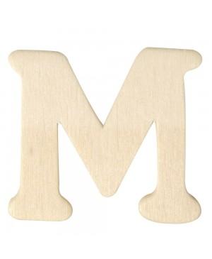 Medinė raidė 4cm, M