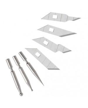 Įrankis Wedo rankdarbiams, su 8 keičiamais antgaliais