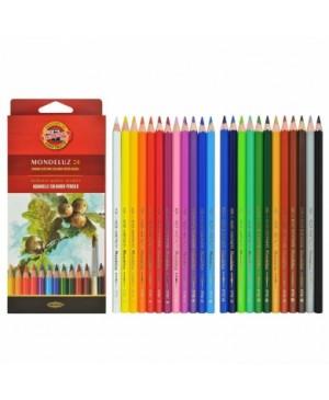 Akvareliniai pieštukai Koh-I-Noor Mondeluz 24 spalvų