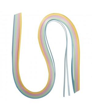 Kvilingo juostelių rinkinys 53x0.3cm, 80 g/m2, 100 vnt., pasteliniai tonai