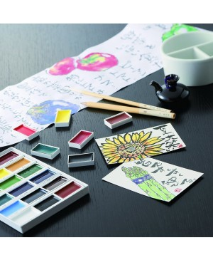 Akvarelė Gansai Tambi 18 spalvų