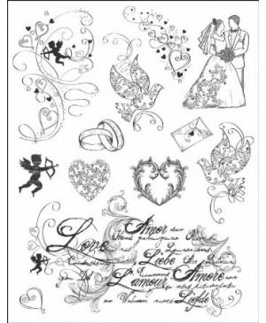 Silikono antspaudų rinkinys Meilė, 14x18 cm