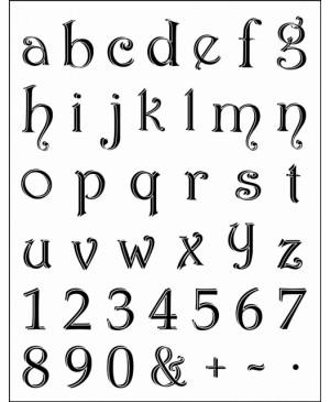 Silikono antspaudų rinkinys Alfabetas - mažosios raidės, 14x18 cm
