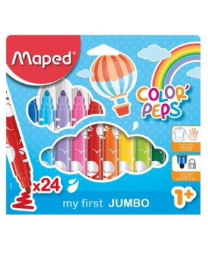 Flomasteriai Maped Color Peps My first 24 spalvų