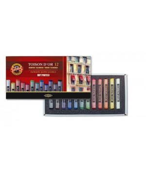 Spalvotos sausos pastelės rinkinys Koh-I-Noor, 12 spalvų