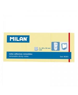 Lipnūs lapeliai užrašams Milan, 38x50mm, 3x100l.