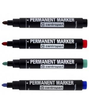 Permanentinis žymeklis Centropen 8566, juodas, 2.5 mm