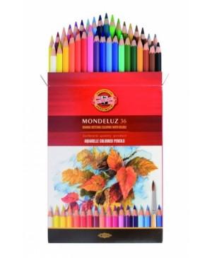 """Akvareliniai pieštukai """"Mondeluz"""" 36 spalvų"""