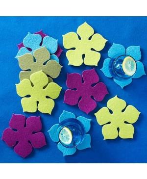 Sintetinis veltinis - filcas 0,2 cm storio, 30x45 cm, šviesiai mėlyna 08, 1vnt