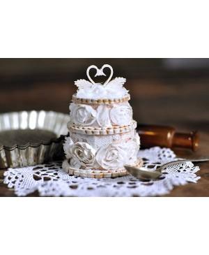 Kartono formelė Tortas vestuvinis su gulbėmis 3D
