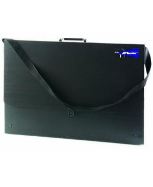 Dėklas brėžiniams Case A3 juodas, 435x315x30mm, su diržu