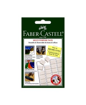 Klijuojanti guma - motavimo kvadratėliai Faber Castell Tack-it 50g