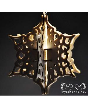 Kartono formelė Snowflake 3D, 3vnt