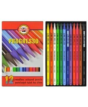 Spalvotų pieštukų rinkinys Progresso Koh-I-Noor, 12 spalvos