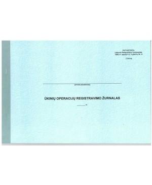 Ūkinių operacijų registravimo žurnalas F-2 I A4 24 l.