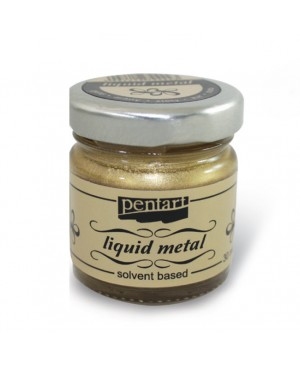 Liquid Metal Pentart dažai 30ml, gold