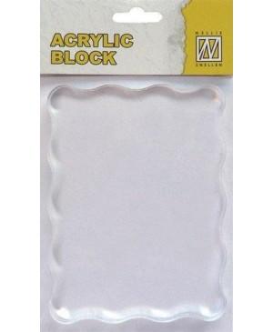 Akrilinis pagrindas silikono antspaudukams 7x9cm