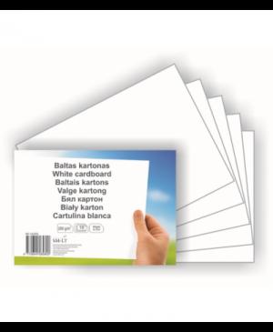 Baltas kartonas A4, 10 lapų, 250 g/m²