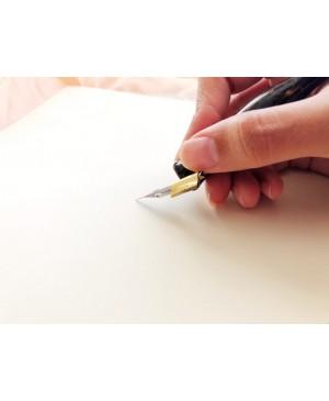 Laikiklis plunksnai Oblique, juodos sp.