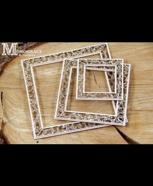 Kartono formelė Monograce rėmeliai kvadratiniai, 3vnt.