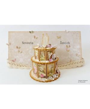 Kartono formelė Tortas vestuvinis 3D