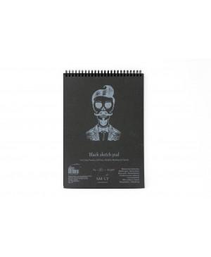 Eskizavimo bloknotas juodais lapais A5, 165 g/m², 20 lapų