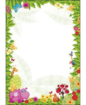 Diplominis popierius Džiunglės (Džungla), A4, 170 g/m² , 1 lapas