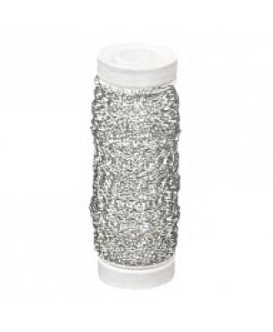 Vielutė banguota, storis 0,22 mm, 60 m, sidabro spalvos