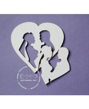 Kartono formelė Wedding Day - Pora širdy