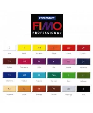 Modelinas Fimo Professional 85g, 57 lapų žalia