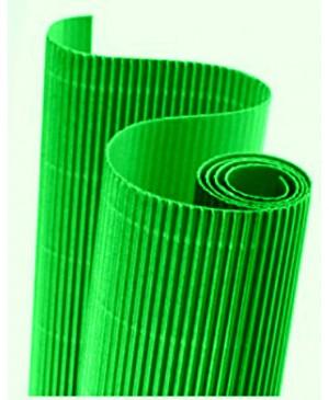 Gofruotas kartonas  50x70cm (23), šviesiai žalia sp.