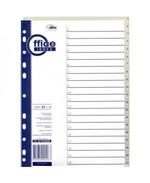 Skiriamieji lapai Forpus, 1-20, A4, plastikiniai