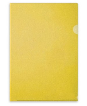 Aplankas dokumentams Forpus, A4, matinis geltonas, 115 mkr, L formos