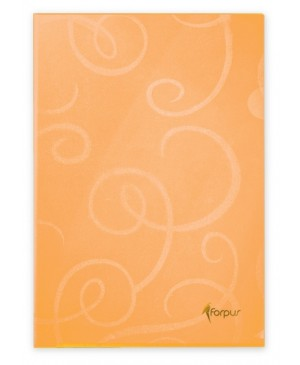 Aplankas dokumentams Forpus Barocco, A4, oranžinis,180mkr., L formos