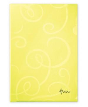 Aplankas dokumentams Forpus Barocco, A4,citrinos geltonos sp.,180mkr., L formos