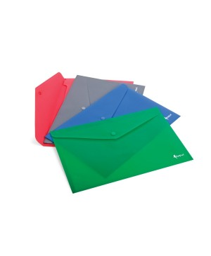 Vokas dokumentams Forpus A4, pilko plastiko, su spaude