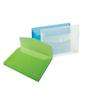 Vokas dokumentams Forpus A4, žalias, plastikinis, su spaude