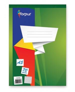Bloknotas Forpus A5, 70 lapų, langeliais