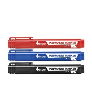 Permanentinis žymeklis Forpus Premium apvaliu galu,1-5mm, raudonas