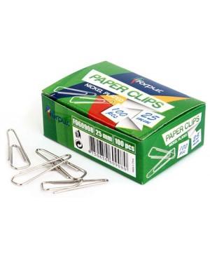 Sąvaržėlės Forpus, 25mm, trikampės, 100vnt kartono dėžutėje, nikeliuotos