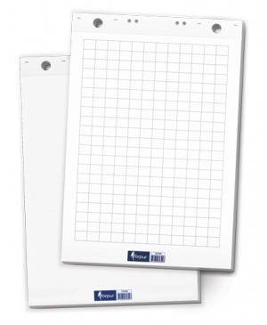 Konferencijų bloknotas Forpus 60x80cm, baltas, 50 lapų