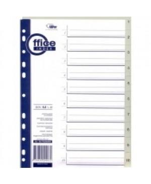 Skiriamieji lapai Forpus, 1-10, A4, plastikiniai