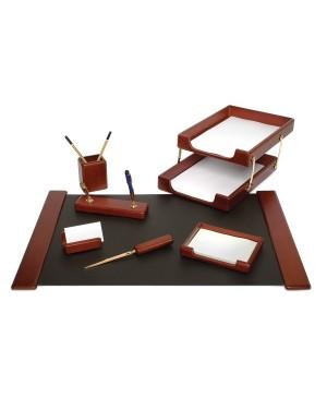 Darbo stalo priemonių rinkinys Forpus, medinis, kaštono sp.7 dalys