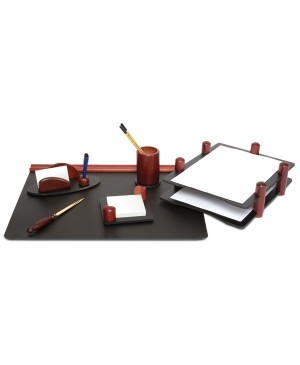 Darbo stalo priemonių rinkinys Forpus, medinis,raudonmedžio sp.6 dalys
