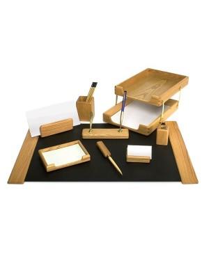 Darbo stalo priemonių rinkinys Forpus, medinis, riešutmedžio sp. 9 dalys